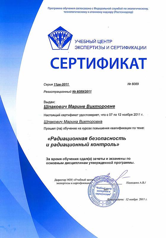 Сертификат Негосударственного Образца - фото 3